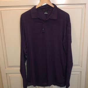 Nike tiger woods collection long sleeve polo shirt